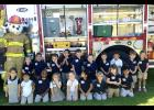 Lauren Blanco's pre-kindergarten class at Berwick Elementary visited the Berwick Fire Station during Fire Prevention Week.  Kneeling, from left, are Paisley Clements, Emily Martinez, Ja'Ryan Bias, Jewel Mula, Annabelle Yoder, Genesiss Ruiz, Isabelle Suire, Journi Marks and Erlin Guzman. Standing, from left, are Ezrah Burgess, Cruz Martinez, Levi Kiser, Brennan Sustaita, Dane Gray, Vincent Duval, Leo Loupe, Christopher Martin, Connor Martin and Emma Matte.