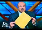 "Family members of the late Glenn Lemoine appeared on the ""Dr. Phil"" show Tuesday. Dr. Phil McGraw holds up the results of a polygraph test."